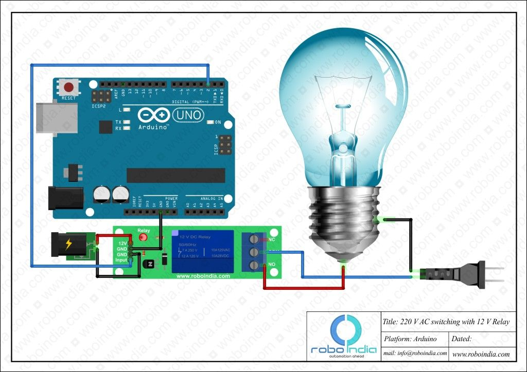 Arduino - 220V AC switching by 12V Relay | Electronics