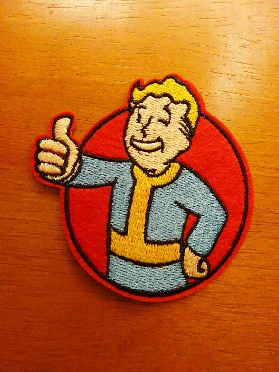 """Fall Out Vault Boy Embroidered Iron//Sew ON Patch Cloth Patch Appliqué 3""""x3"""""""