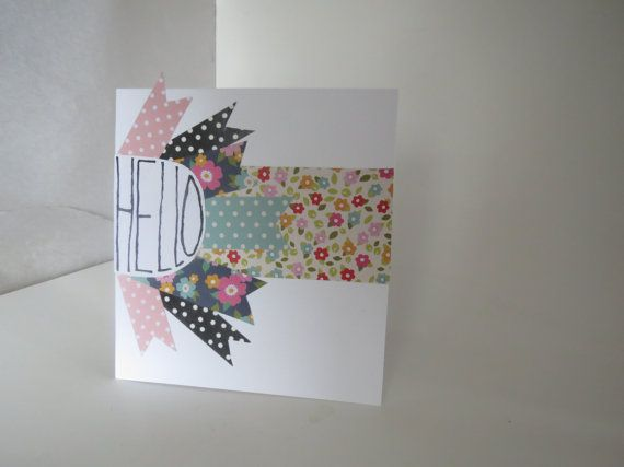 Hello card by InkyAshley on Etsy