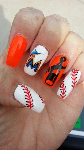 Pin By Kristin Ransom On Nails Marlins Baseball Espn Baseball Baseball Nails