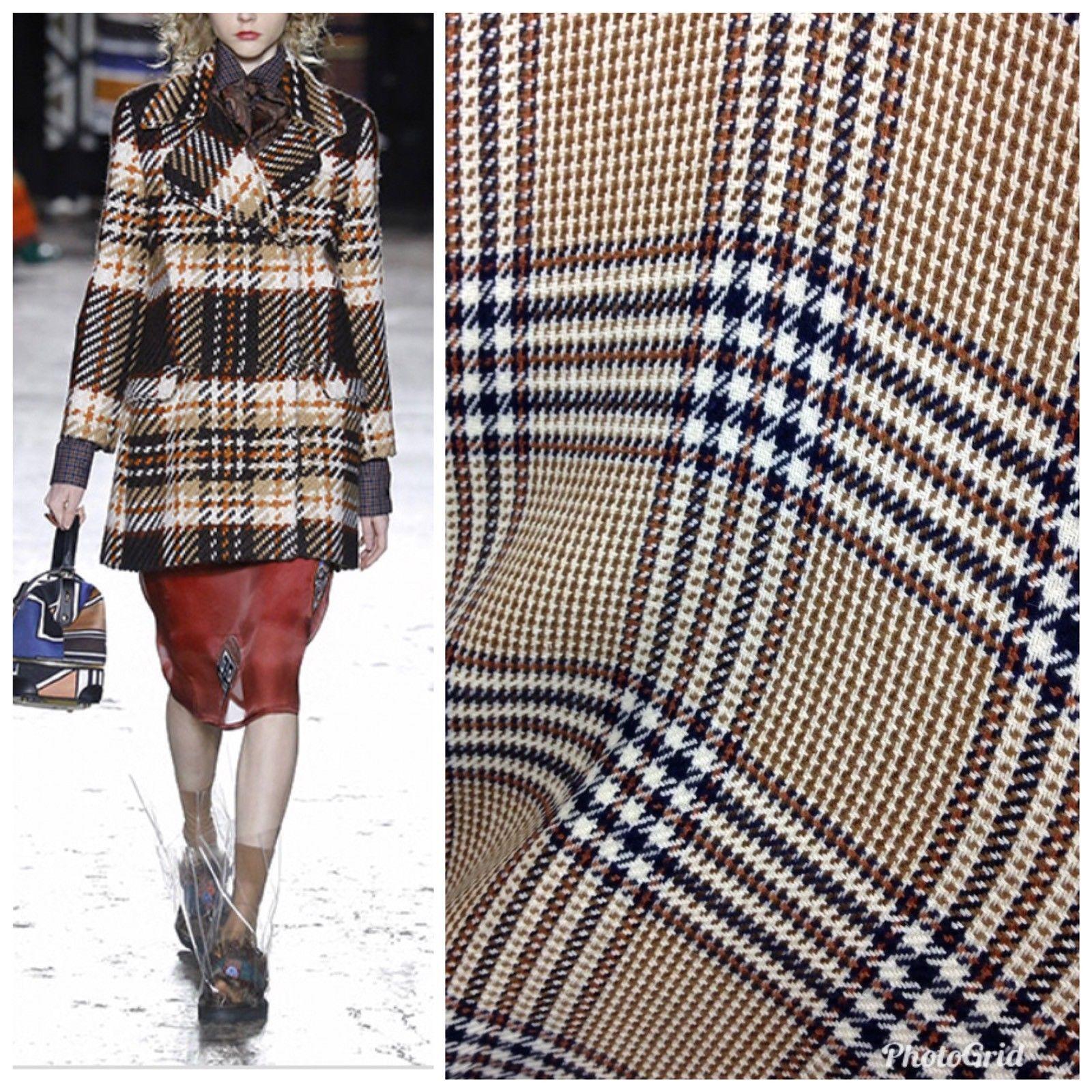 Designer 100 Cashmere Tartan Brown Plaid Fabric By The Yard 60 Wide England Plaid Fabric Tartan Fabric Folk Clothing