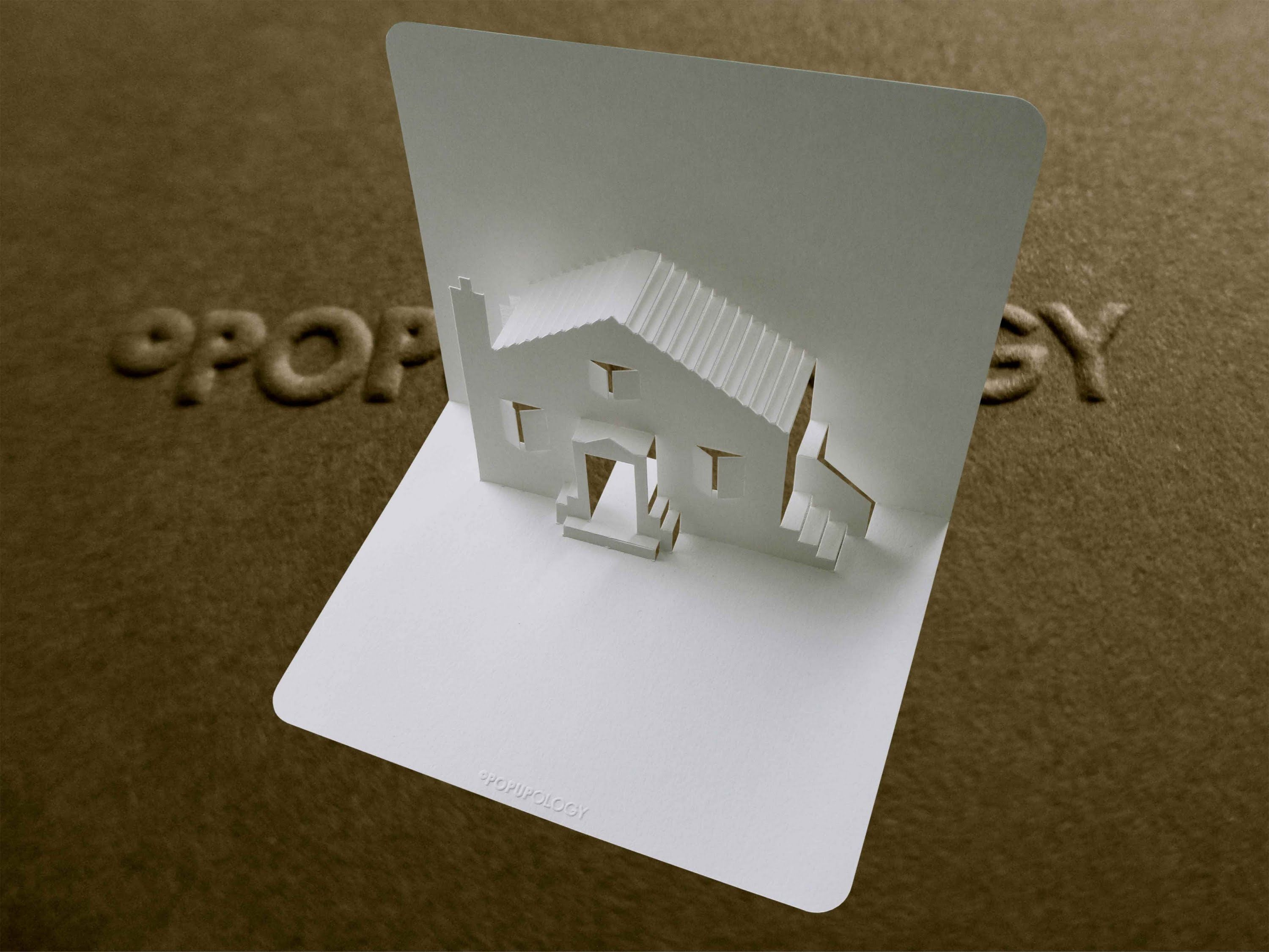 Pop Up House Card 1 Tutorial Origamic Architecture Paper House Template Pop Up Cards Pop Up