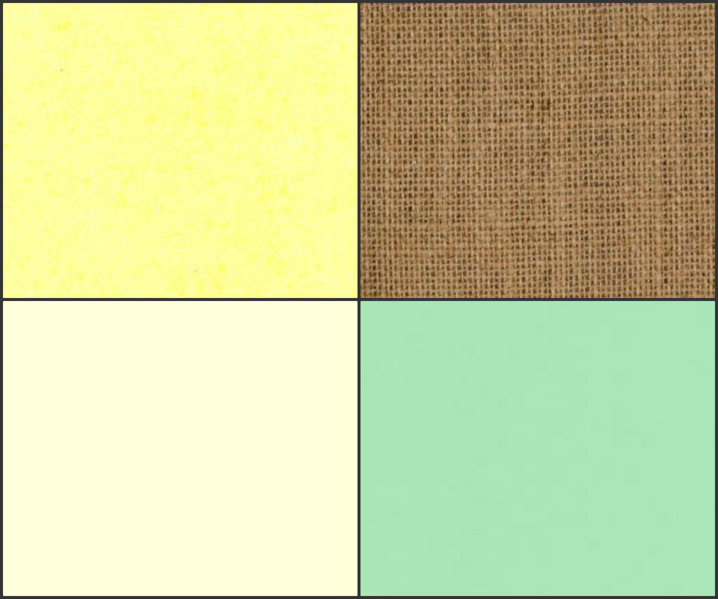 Pale yellow, burlap, ivory, pale green color scheme. Rustic wedding ...