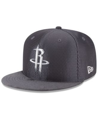 b01dfb08 New Era Houston Rockets On-Court Graphite Collection 9FIFTY Snapback Cap -  Gray Adjustable