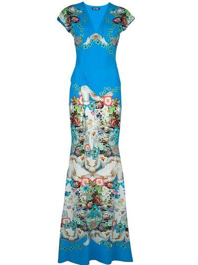 6d9d5b7876696 Roberto Cavalli Printed Maxi Dress