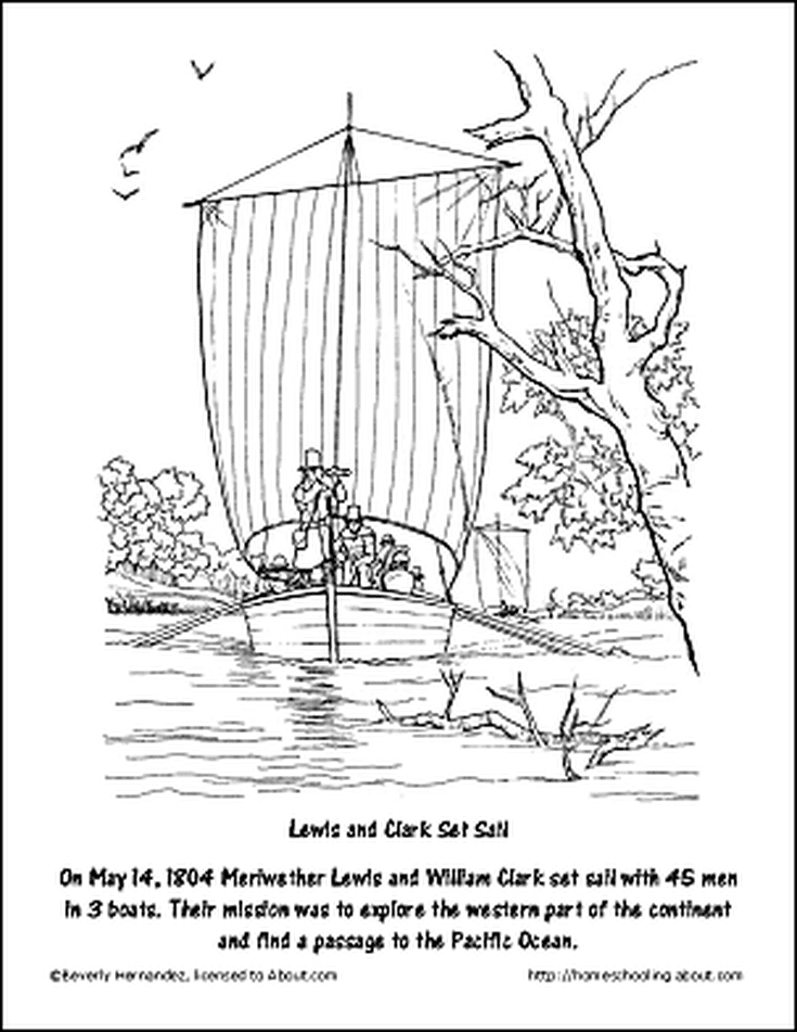 Free Lewis and Clark Printable Worksheets and Coloring Pages | Lewis ...