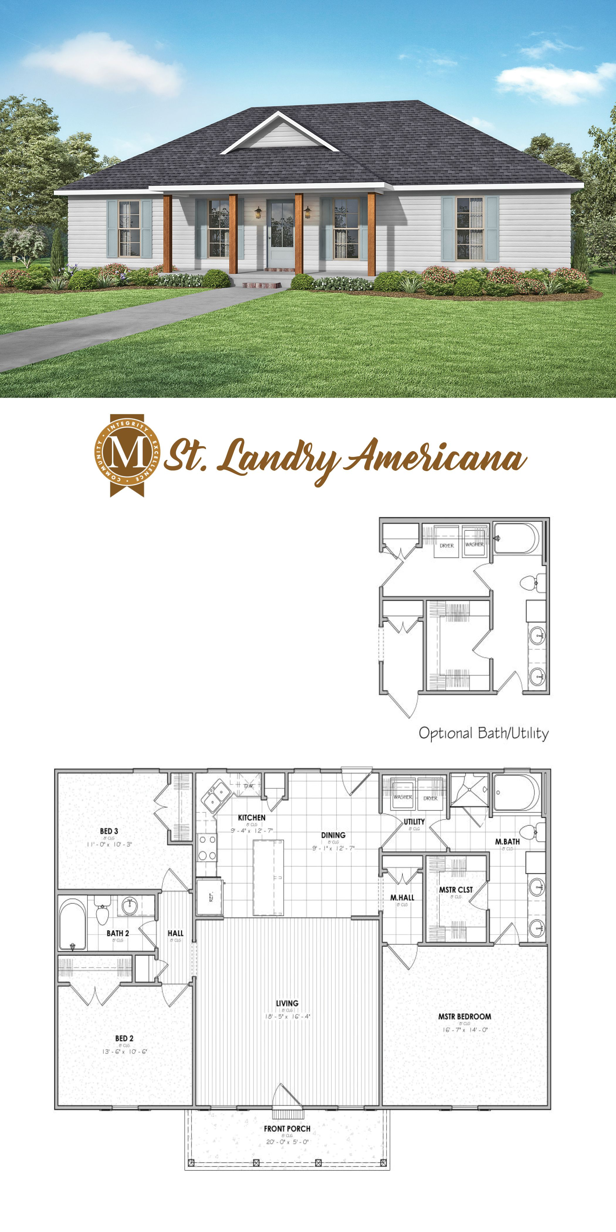 St Landry Americana Floor Plan House Plans Farmhouse Small House Plans Dream House Plans