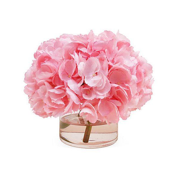 "11"" Hydrangea in Vase - Faux Arrangements (384.020 COP) ❤ liked on Polyvore featuring home, home decor, floral decor, flowers, decor, fillers, plants, decorative accessories, flower home decor and floral home decor"