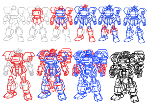 How To Draw Mecha Draw Anime Robots Step 20 Drawings In 2019
