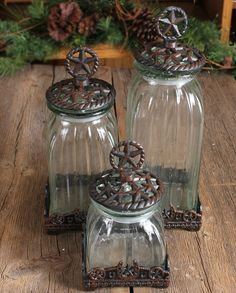 Silverado Glass Star Canister Set - 3 Pieces :: Kitchenware :: Decor & Gifts :: Fort Western Online .