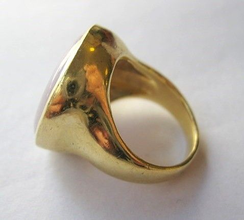 Lavender Jade & Diamond 18k Yellow Gold