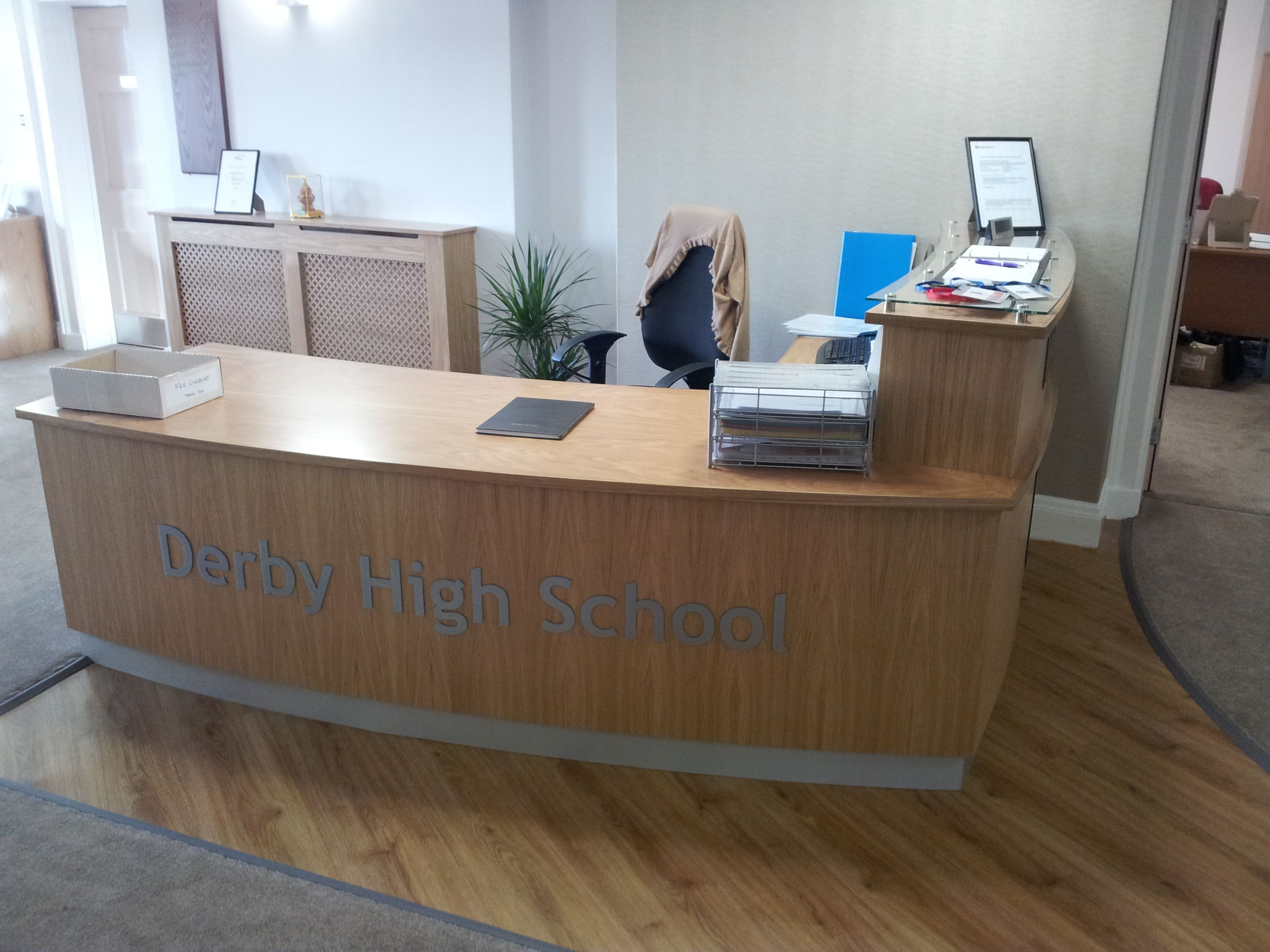 Home gt reception desks gt 8 curved maple glass top reception desk - Reception Desks
