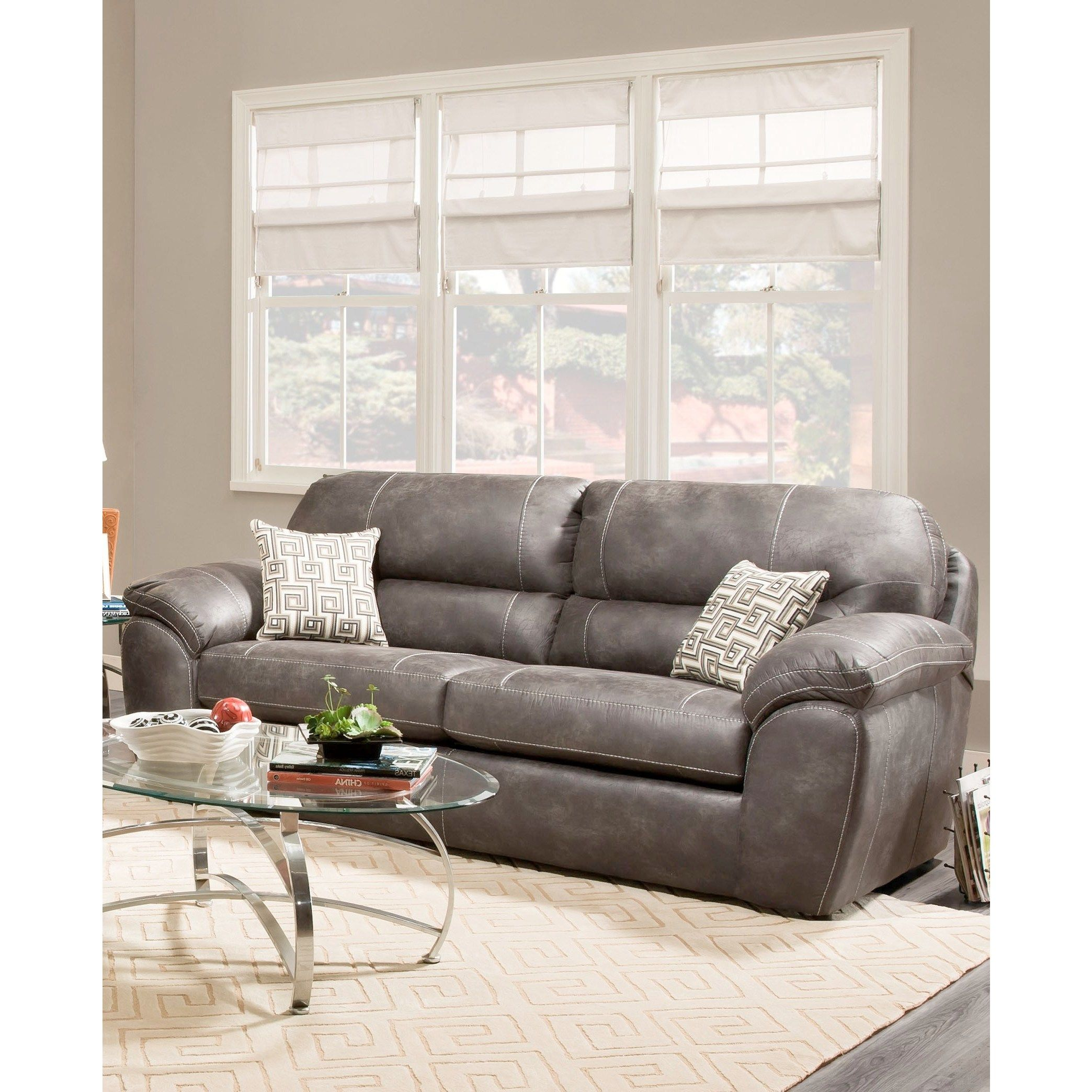 Sofa Trendz Albert Grey Microfiber Sleeper Sofa (Albert Sleeper Sofa-Grey) (Fabric)