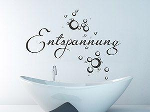 Best Wandtattoo Entspannung im Bad
