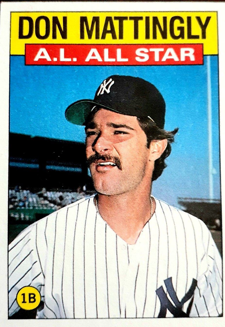 Topps 1986 In 2020 Don Mattingly Baseball Cards Old Baseball Cards
