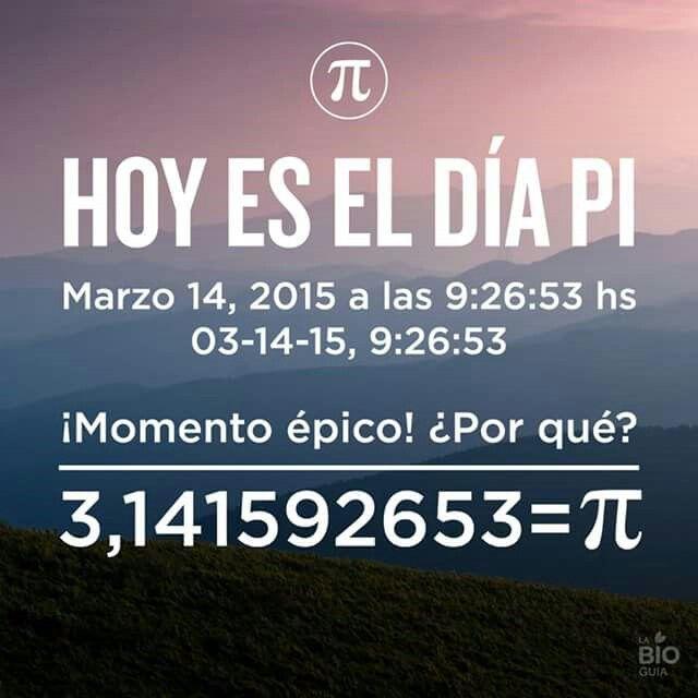 ¡#FelizDíaPi! Aunque los madrugadores son los que lo habrán vivido :p  ¡Hasta dentro de 100 años no se vuelve a repetir! #HappyPiDay