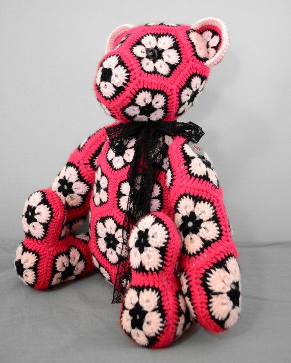 African Flower Bear - Crochet   ETSY   Pinterest   Diy häkeln ...