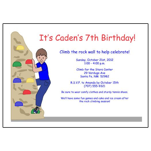 17 Best images about Rock Climbing Party – Rock Climbing Birthday Party Invitations