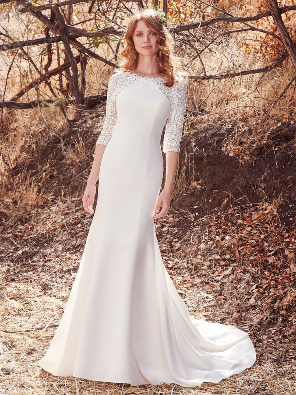 Modest Wedding Dress From Fantasy Bridal Modest Fitted Simple