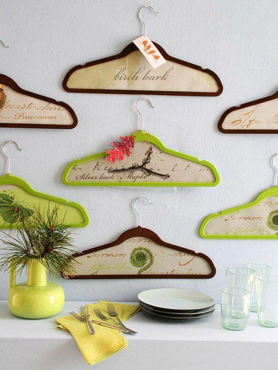 wandgestaltung mit holz wall art diy kunst kleiderbügel | ideen, Moderne