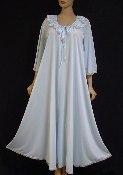 Old Fashioned Nightgowns Sensuous Baby Blue Free Flowing