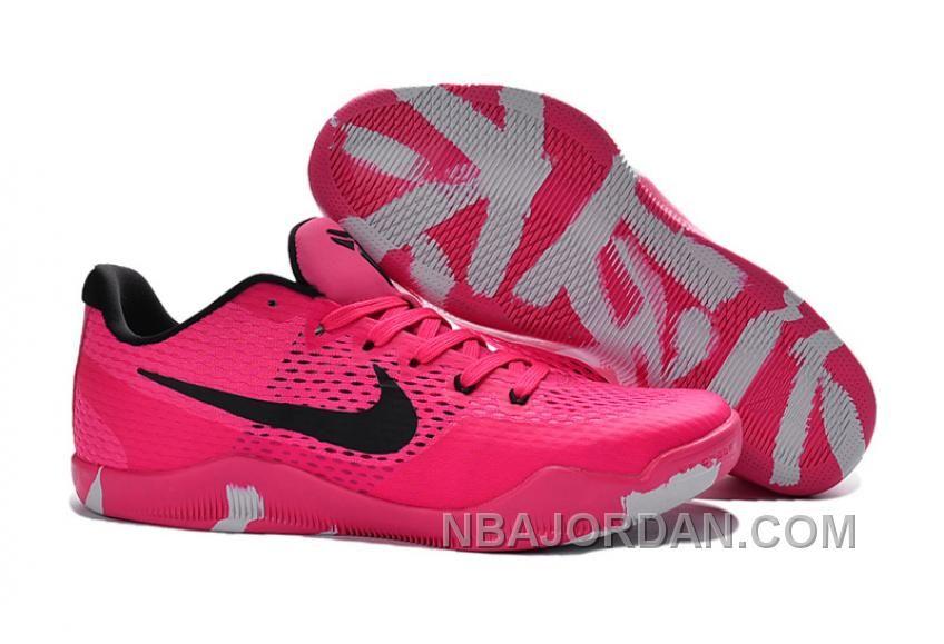 httpwwwnbajordancomnike kobe 11 em breast cancer pink black basketball shoes christmas deals 54799html nike kobe 11 em breast cancer pink black