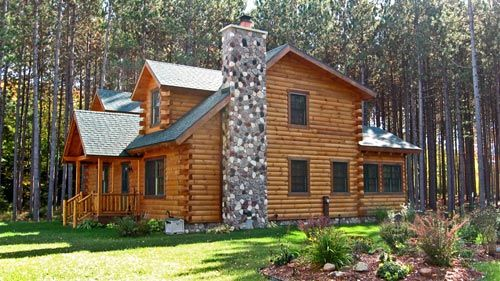 Timber frame and log siding in tomahawk wisconsin by for Buy log siding