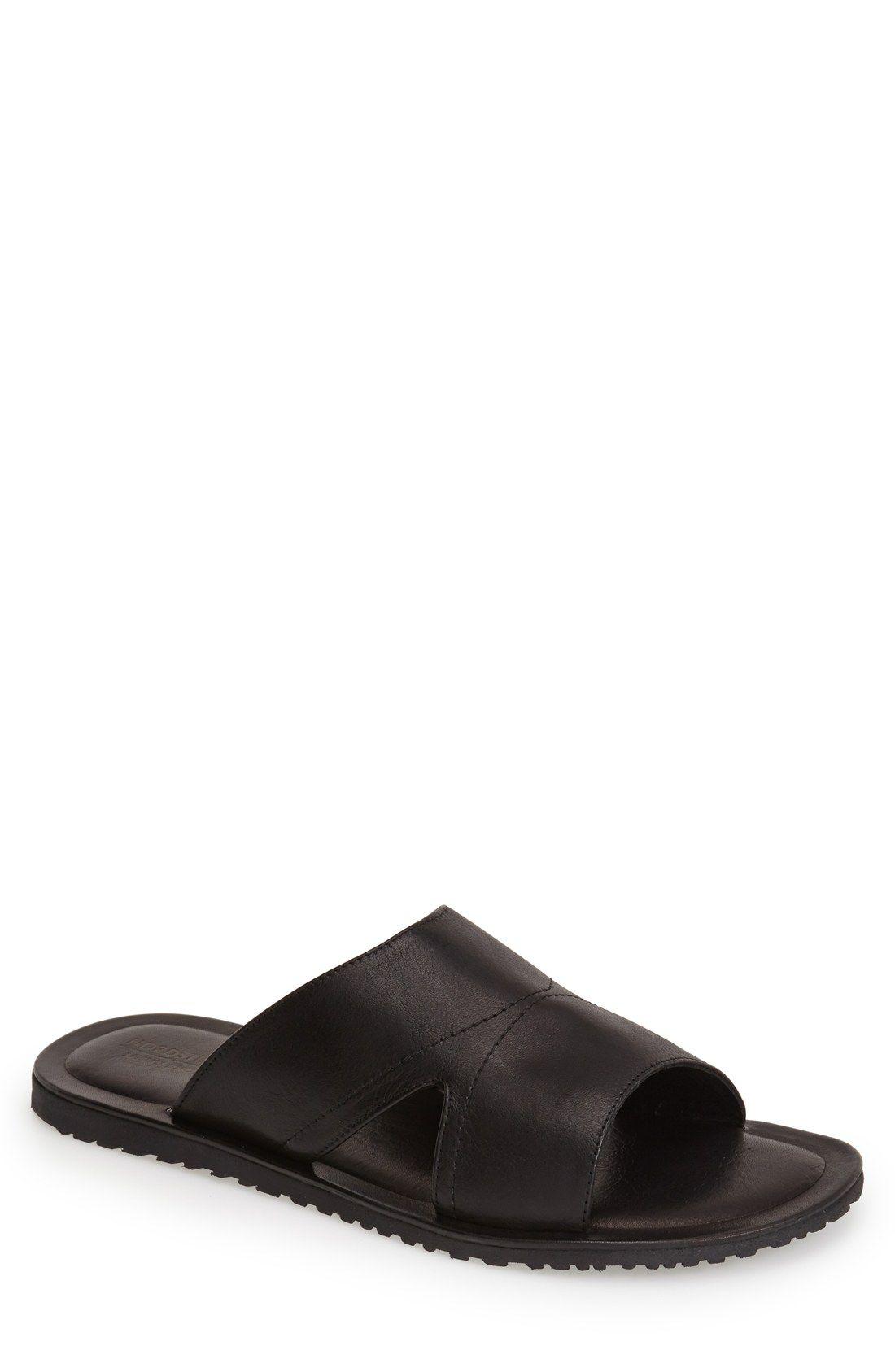 Nordstrom Men's Shop 'Crete' Leather Slide Sandal (Men) | Nordstrom