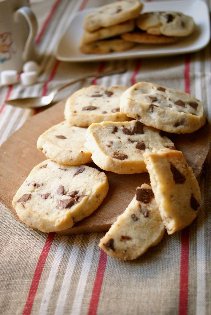 Shortbread aux pépites de chocolat - MyCookDiary