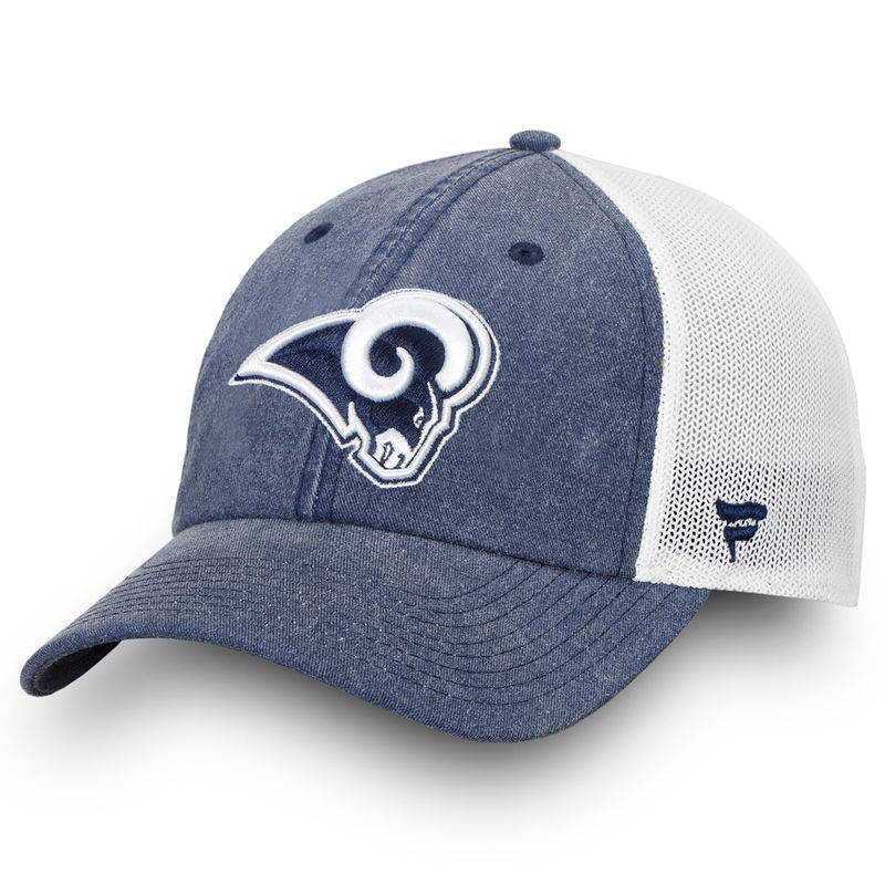 new concept 628e1 f0c29 Los Angeles Rams NFL Pro Line by Fanatics Branded Timeless Fundamental  Adjustable Trucker Hat – Navy White