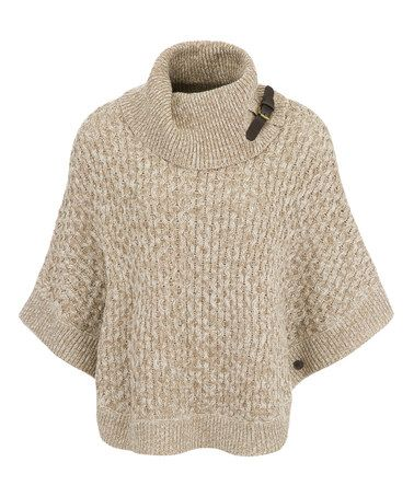 Another great find on #zulily! Butterscotch Marl Buckle Turtleneck Poncho #zulilyfinds
