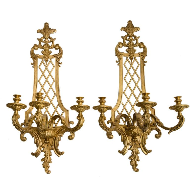 large gilt gronze regence style wall sconces france on wall sconces id=61602