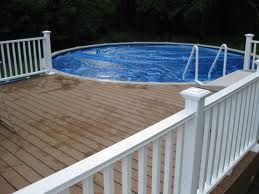 Above Ground Round Pool Built Into The Existing Deck Right Off Jacob S Deck Only Hot Tub Above Ground Pool Decks In Ground Pools Pool Deck Plans