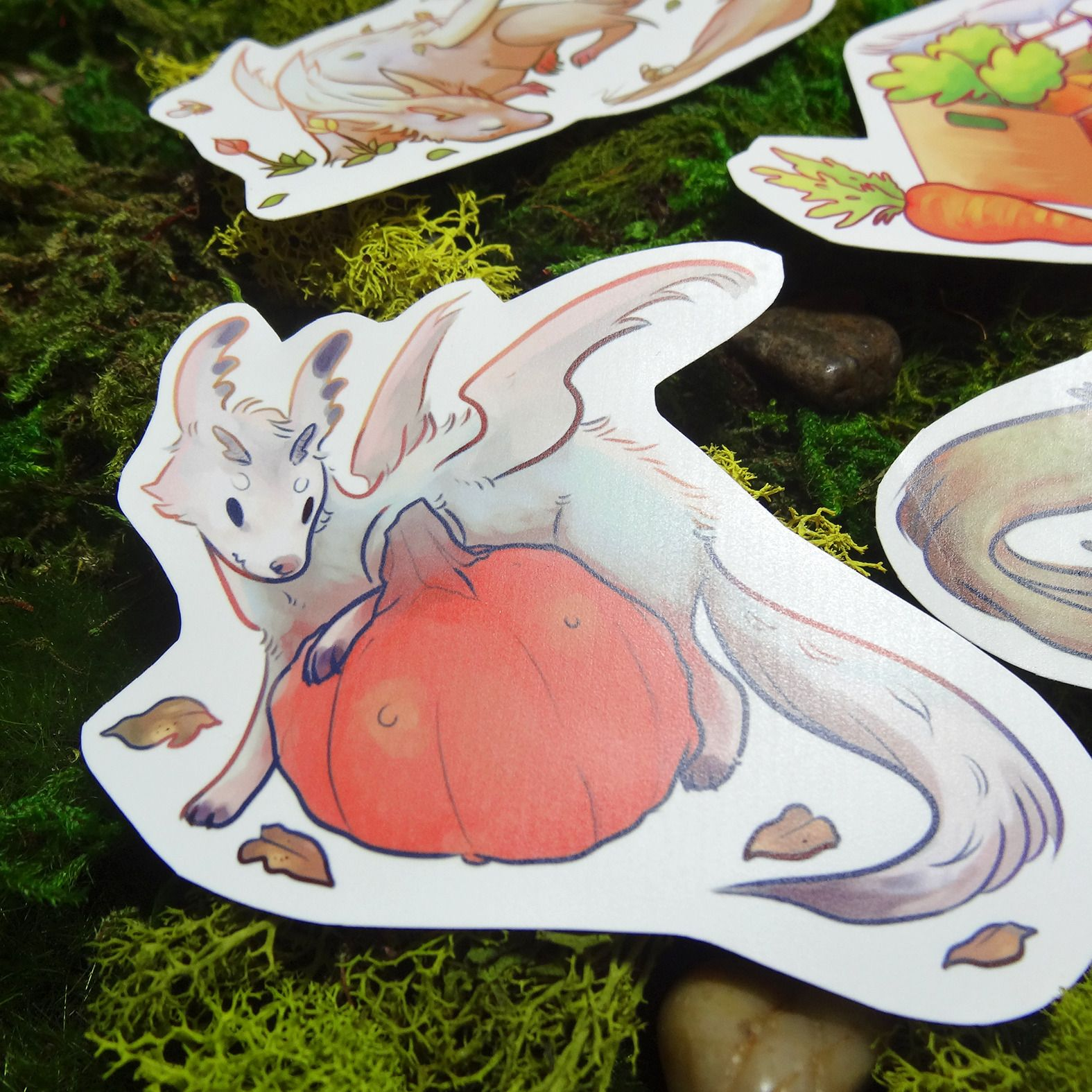 Garden Beasts Sticker Set cute seasonal creature matte