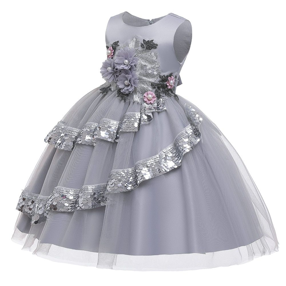 Hots Sale New Year Girls Dresses For Christmas Party,Baby Girls Layered Princess Dresses,Children Flowers TuTu Party Dress #babygirlpartydresses