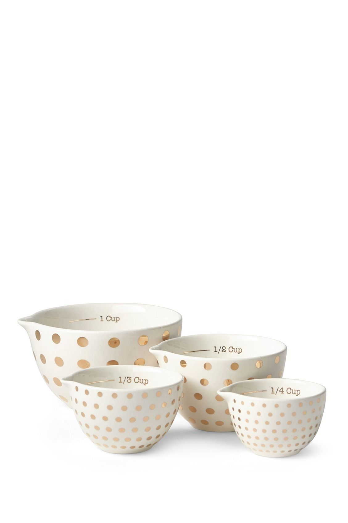 Prima Design Gold Dot Measuring Cups Yellow Kitchen