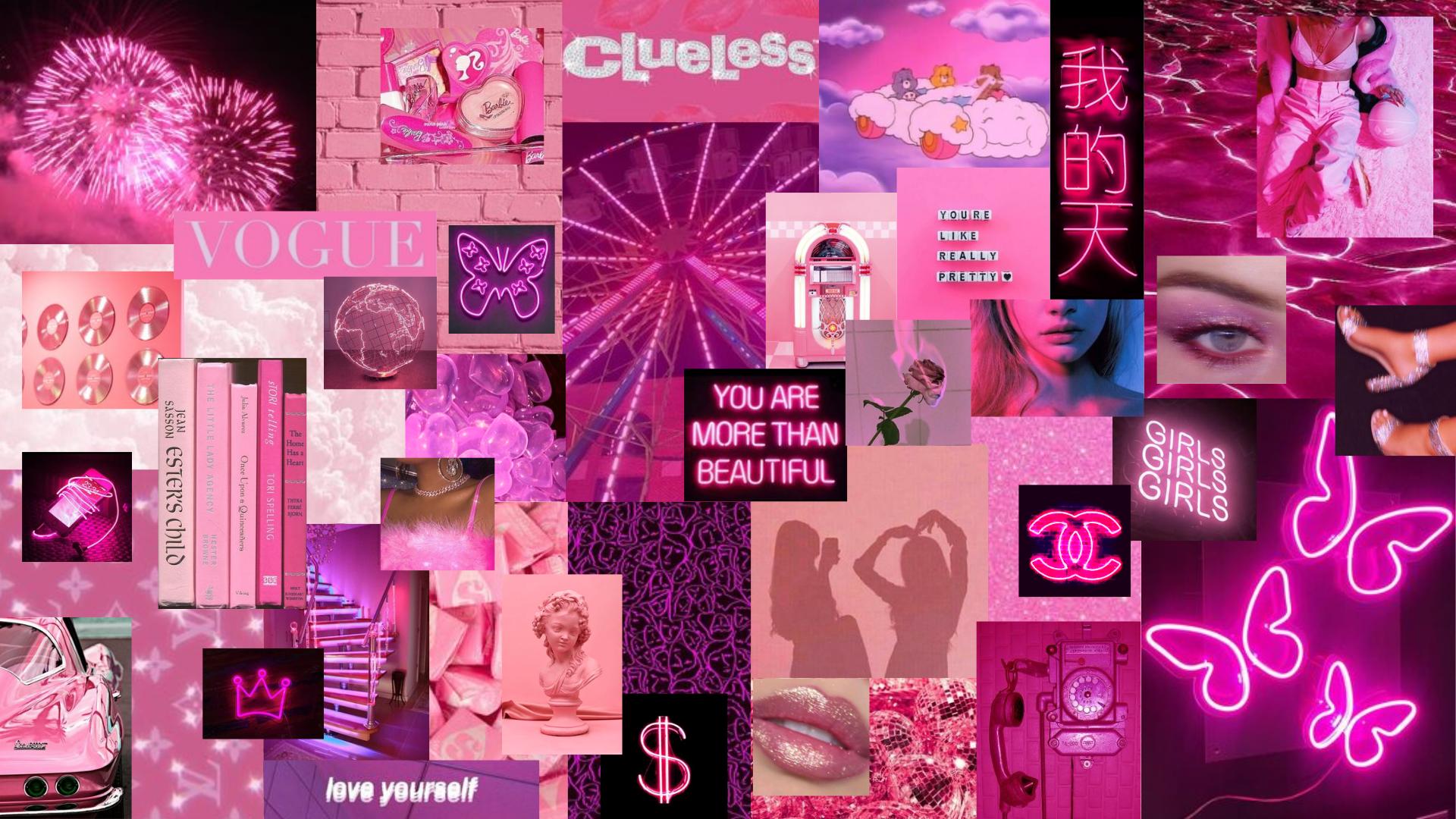 Pink Neon Aesthetic Pink Wallpaper Laptop Pink Wallpaper Desktop Cute Laptop Wallpaper