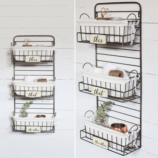 Use Our Metal Wall Basket Organizer In Your Living Room, Kids Room, Closet,