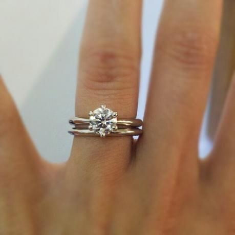 Solitaire Band With Solitare Engagement