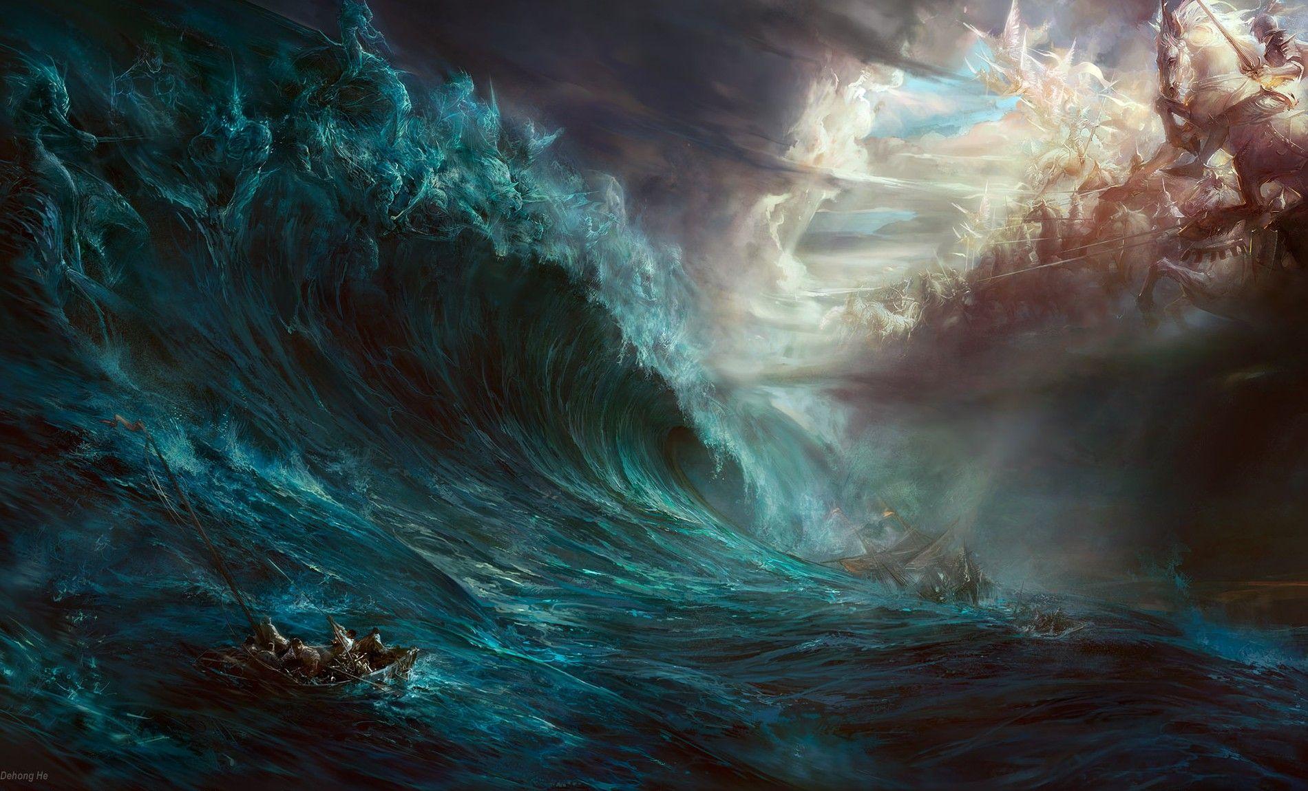 Fantasy ship cliff jolly roger pirate ship rock lightning wallpaper - Fantasy Wallpaper 204