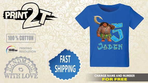 6cb320bdb Maui Birthday T-Shirt Custom Name and Number 1st 2nd by Print2T ...