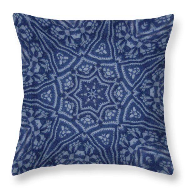 Throw Pillow featuring the digital art Kaleidoscope Flower 2116 by Aileen Griffin