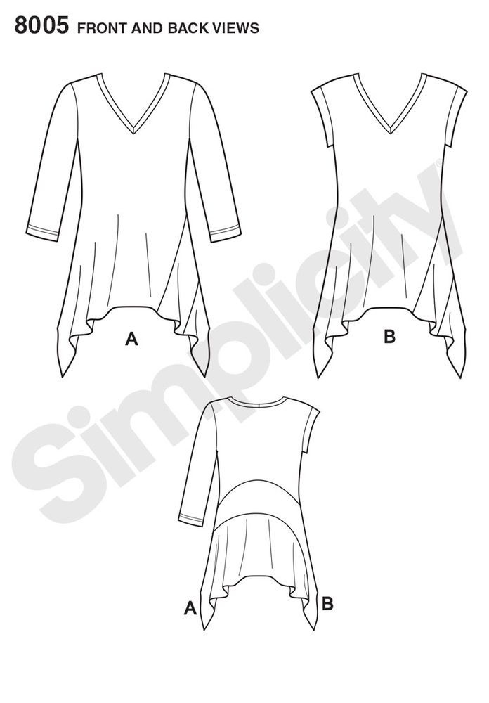 Pattern for Misses\' It\'s So Easy Knit Tops | Simplicity | Patterns ...