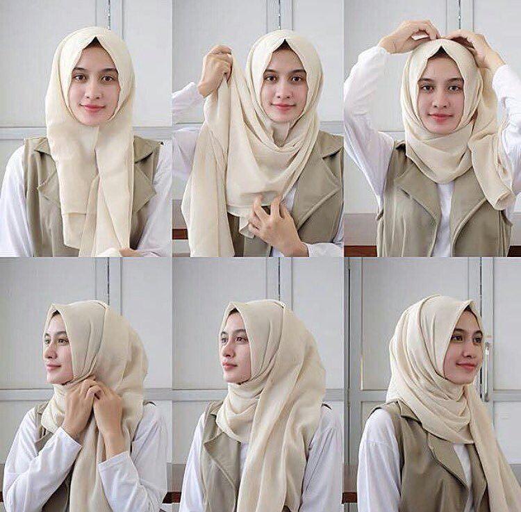 Cara Berhijab Segi Empat 12 Jpg 750 737 Tutorial Hijab Mudah