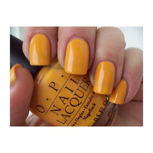 OPI Nails The It Colour Yellow Nail Lacquer/Polish Brights Colour B66 (€11) ❤ liked on Polyvore featuring beauty products, nail care, nail polish, nails, glossy nail polish, opi nail color, opi nail care and shiny nail polish