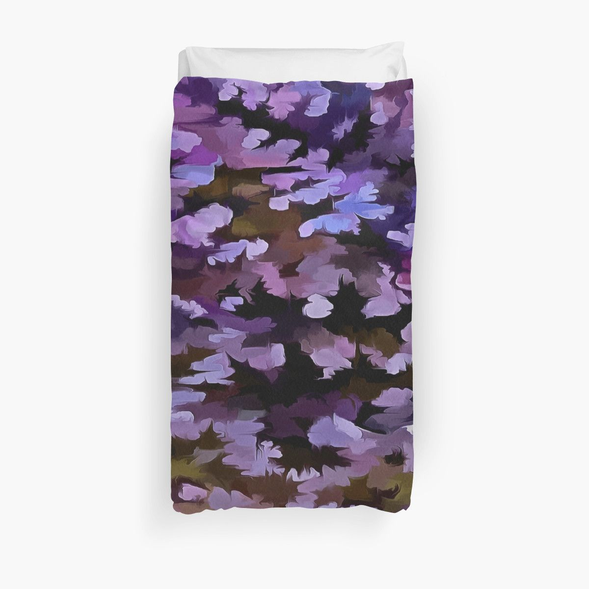 """#Foliage #Abstract In #Blue, #Pink and #Sienna"""" #Duvet #Covers by taiche 