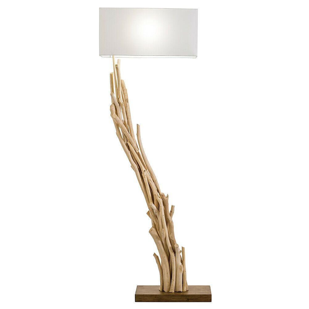 New Driftwood Angle Floor Lamp 61 Natural Reclaimed Wood Floor