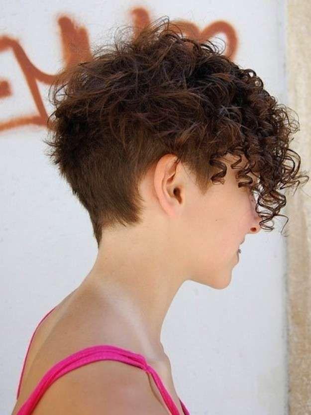 cortes de pelo rizado corto para mujeres fotos de los peinados cabello muy