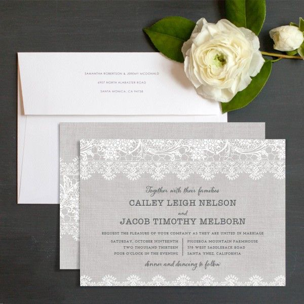 Burlap lace wedding invitations by emily crawford elli ideas burlap lace wedding invitations by emily crawford elli wedding reception ideaswedding solutioingenieria Choice Image
