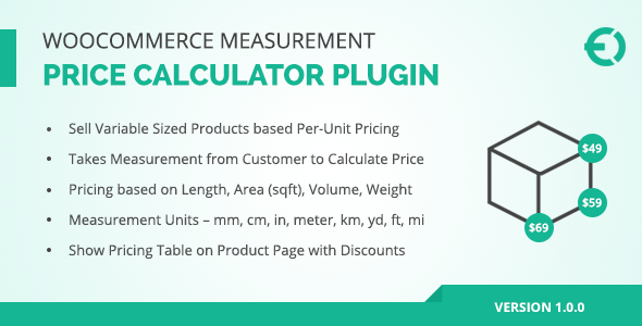 Woocommerce Measurement Price Calculator Plugin  Price